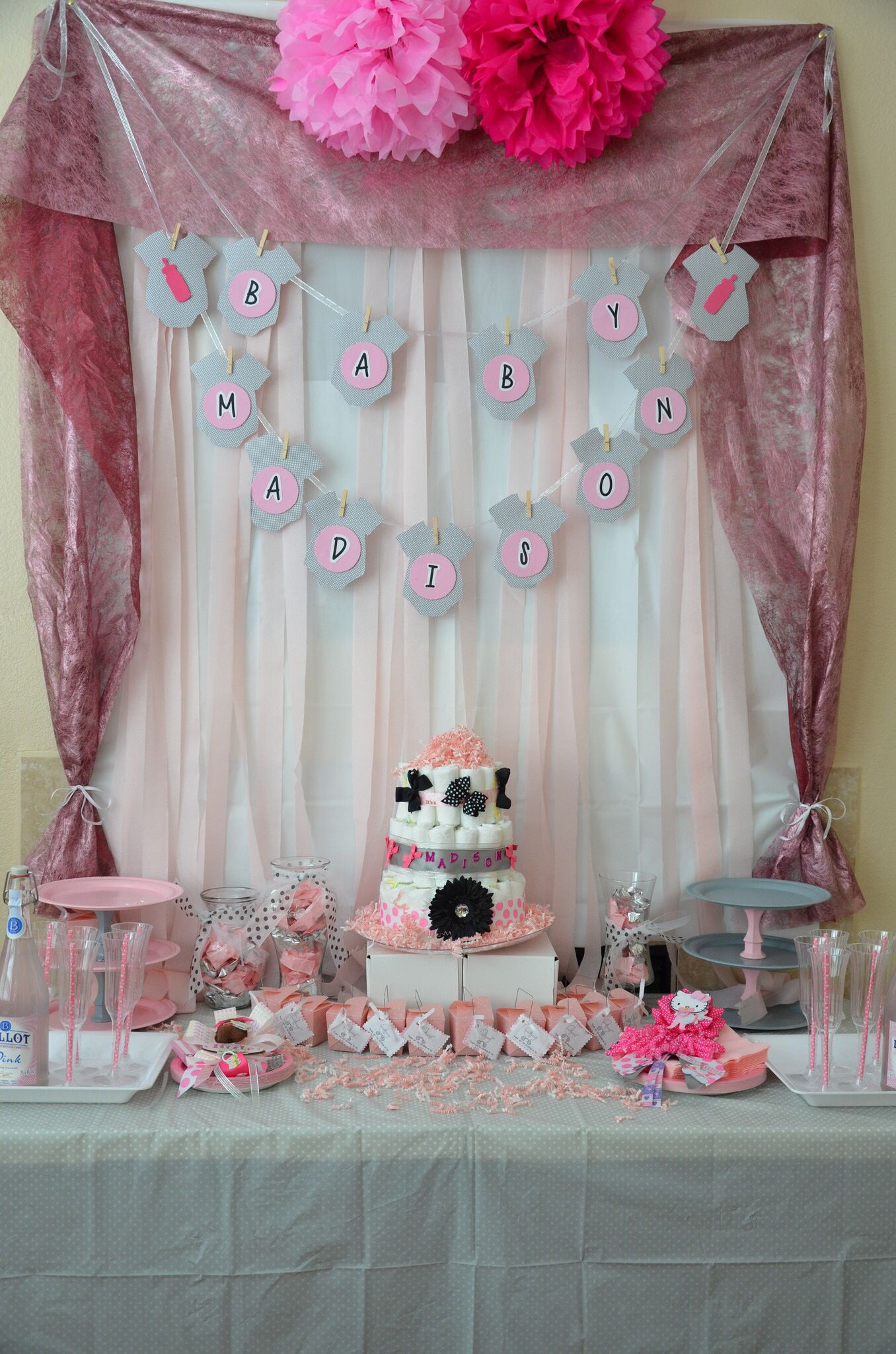 the baby shower center table i created for my little bundle of joy