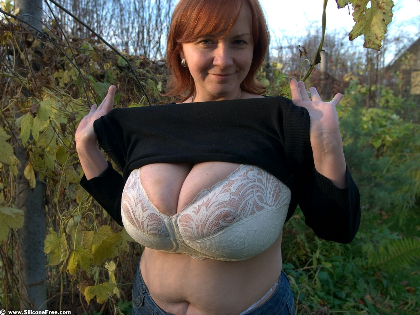 Freckled Hairy Redhead Nude