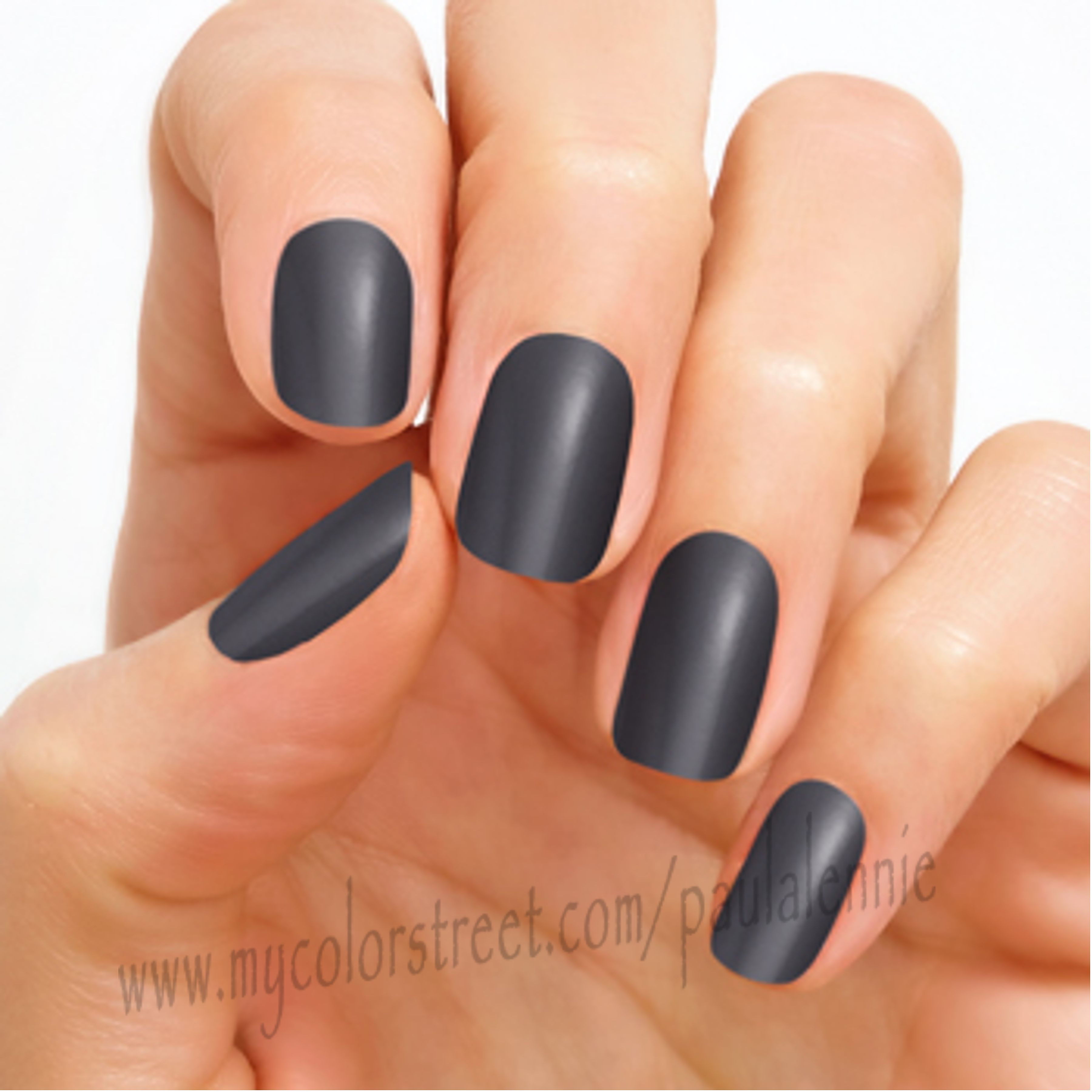 Steel City - Top your tips with dark grey Steel City nails to ...