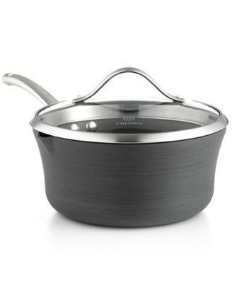 Contemporary Nonstick 3 5 Qt Pour And Strain Covered Saucepan Calphalon Cookware Cookware Set Cool Kitchens