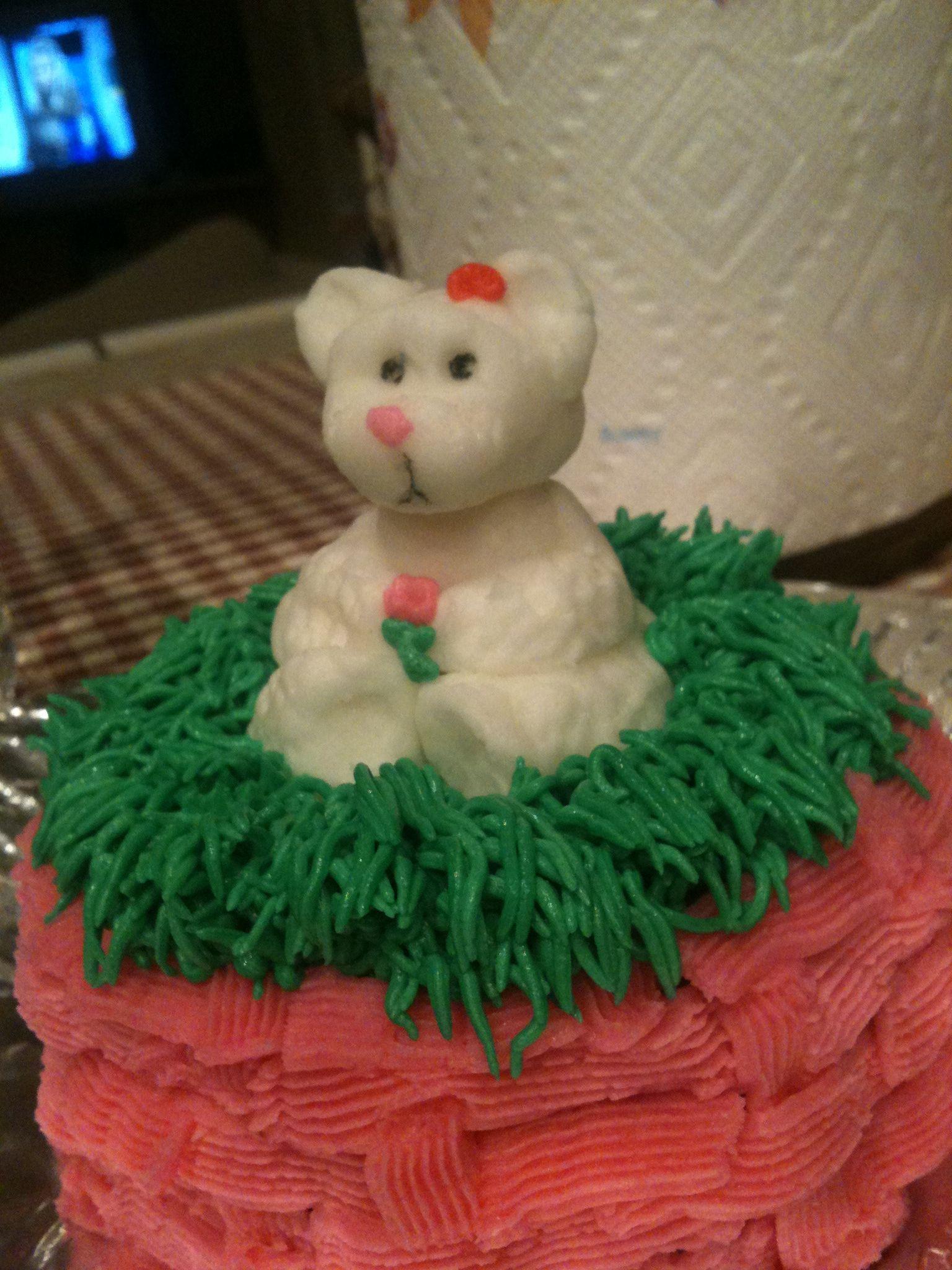 Teddy bear mini cake.  My first attempt :)