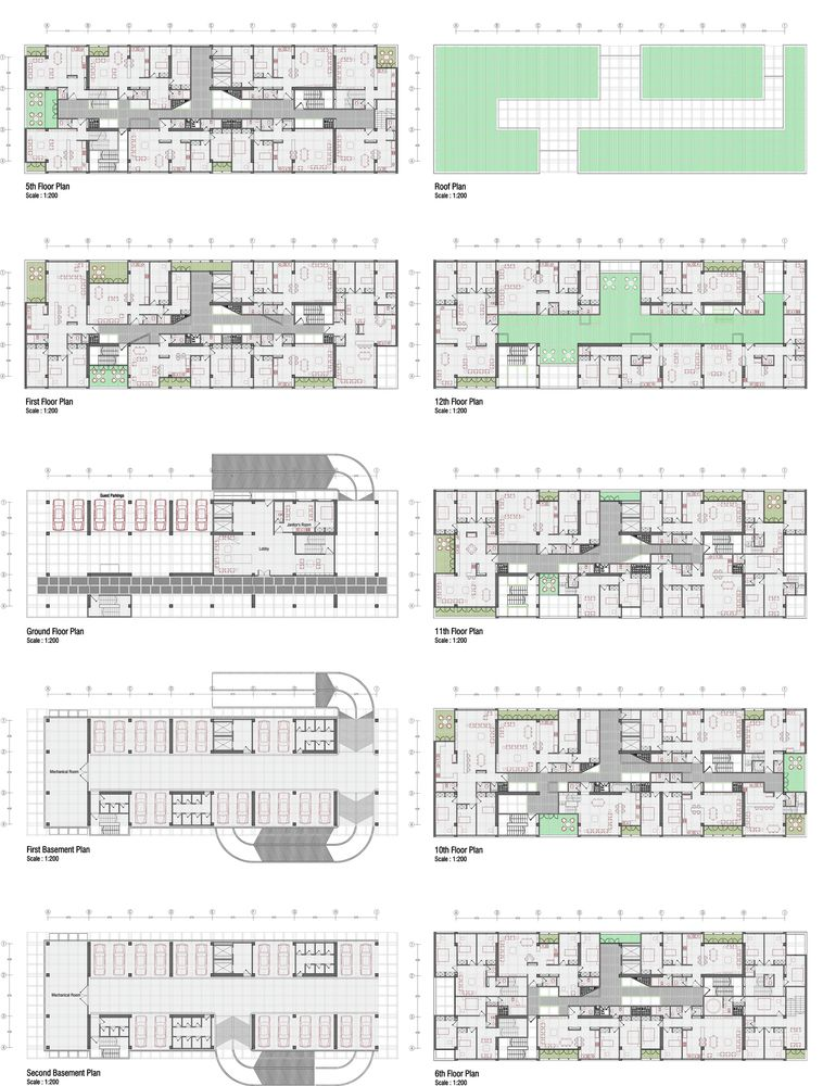 Gallery of mehrshahr residential complex proposal for Residential blueprints
