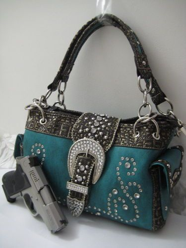 5a400d87feff Concealed Carry Purse Montana West Pistol Gun Weapon Handbag Western Buckle