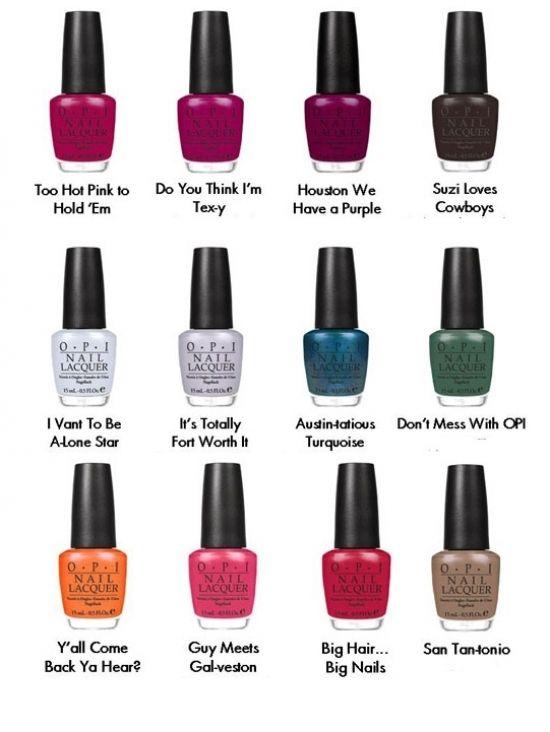 OPI TEXAS COLLECTION | OPI, Texas and Texas nails