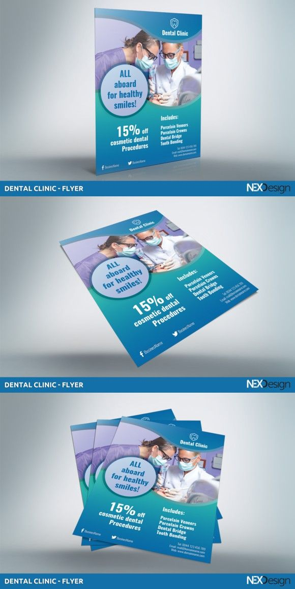 Dental Clinic  Flyer  V  Flyer Template