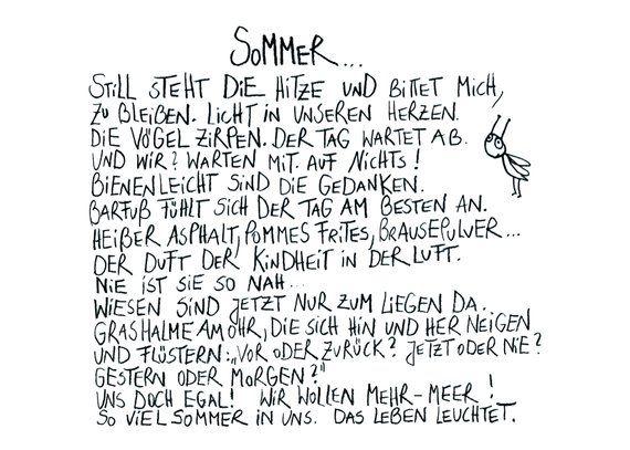 Postkarte Sommer Text und Design: Harriet Grundmann, eDITION GUTE GEISTER