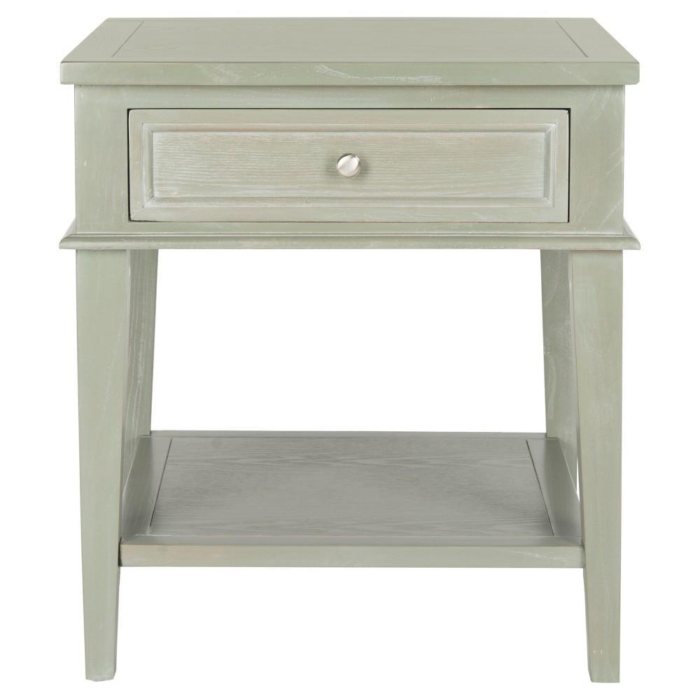 Best Manelin End Table Ash Gray Safavieh Ash Grey End 640 x 480