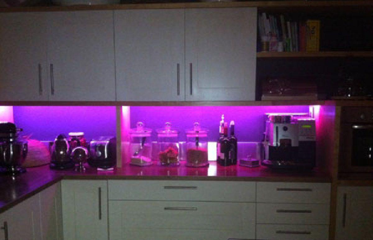 On A Budget Best Led Color For Kitchen Interior Design Best Led Color For Kitchen Home Decor In 2020 Led Strip Lighting Led Strip Lights Kitchen Kitchen Led Lighting