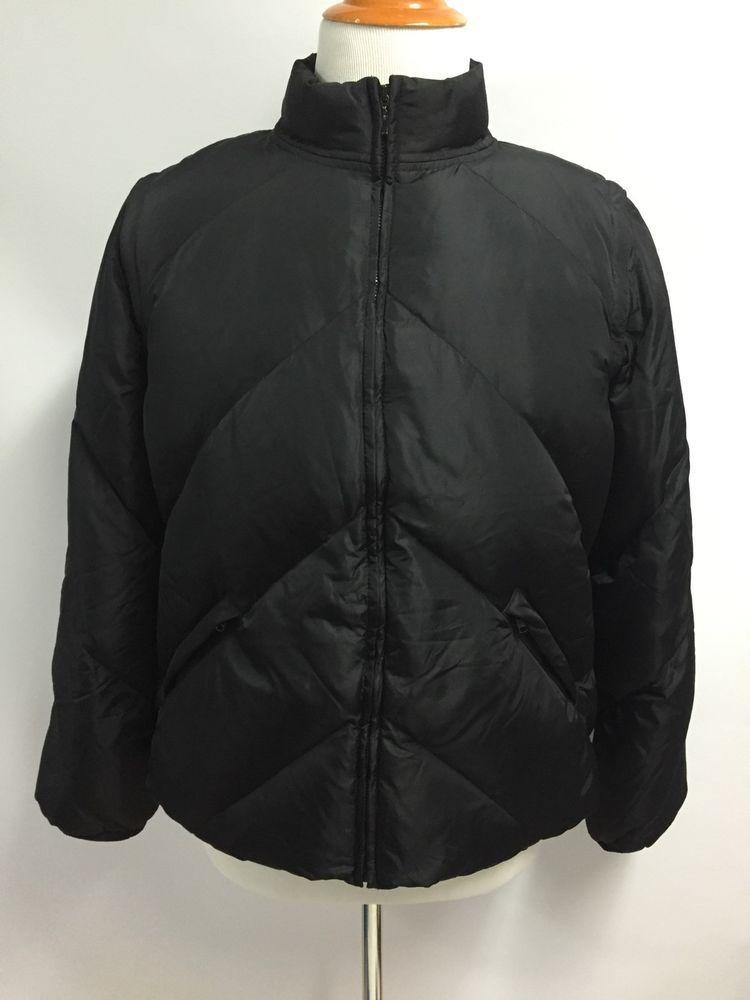 7fb668ec016 J. Crew Mens Puffer Jacket Vest Convertible Removable Sleeves Down Black L # JCrew #Puffer