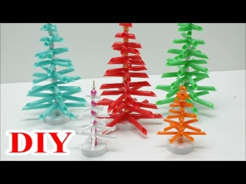 best out of waste craft ideas diy drinking straws christmas tree recycled bottles crafts my