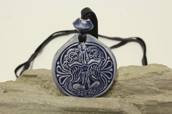 Middle ages beautiful ceramic handmade luck charm by ShumenArt, $15.00