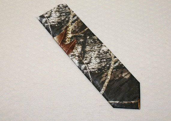 Boys Camouflage Tie  Camo Tie  Mossy Oak Camo Tie  by IDoDoodads, $19.95