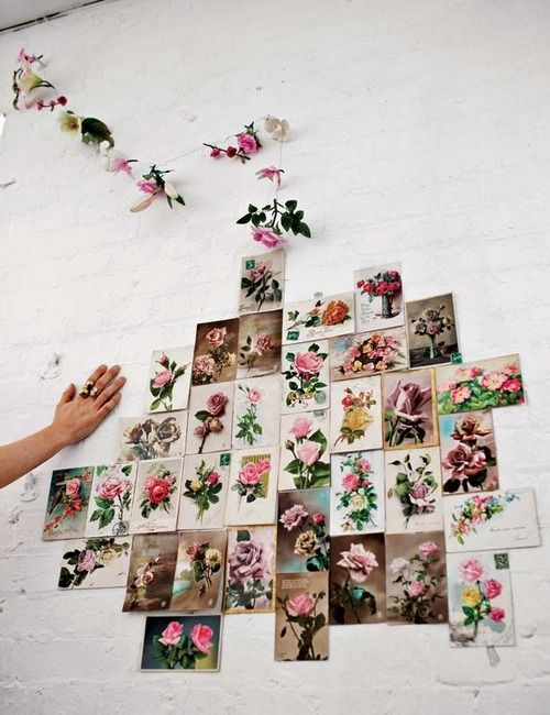 Nos encanta la idea de hacer un collage floral para decorar la ...