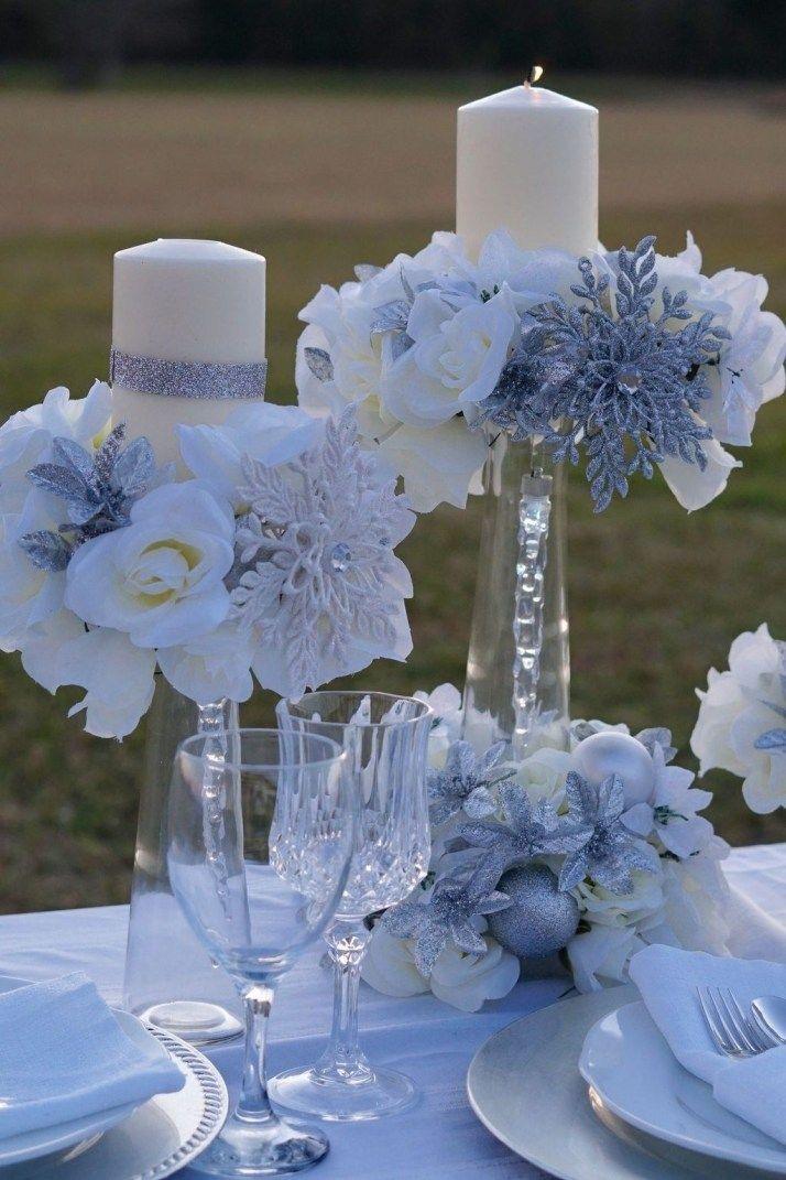 37 Classy Winter Wonderland Wedding Centerpieces Ideas ...
