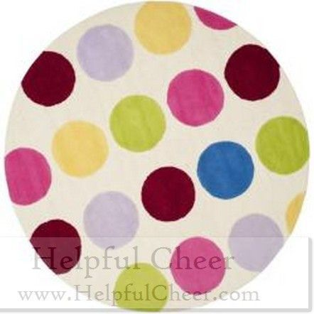 Safavieh Handmade Children X27 S Pokka Dots Ivory N Z Wool Rug 6 Round At Products Pinterest And