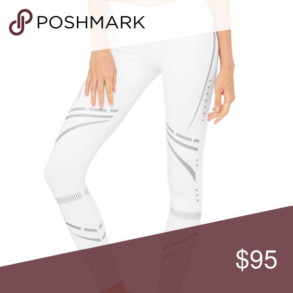 36f06e24cd Alo Yoga Airbrush Legging -Chakra (New with tags) White yoga leggings with  silver designs ALO Yoga Pants Leggings