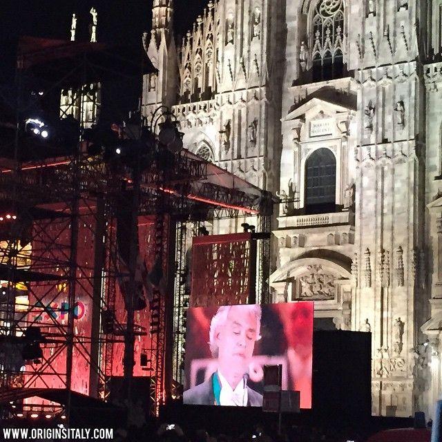 Andrea Bocelli @ #EXPO2015 #MILANO Opening Ceremony. ORIGINS ITALY www.originsitaly.com #Italy #Italia #italie #expo #expomilan #expomilano #ig_italia_expo2015 #ig_italia #instaitalia #instamilano #instaexpo #genealogia #genealogy #singer #famous #duomo #concert #megastar #celebrity #italian #italianamerican #bocelli #andreabocelli
