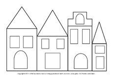 Fensterbild Transparentpapier Häuser 1pdf Weihnachten