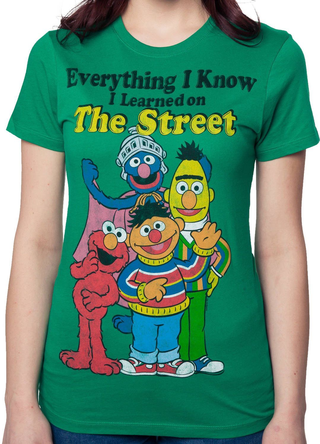 Sesame Street tshirt featuring Bert, Ernie, Elmo, and