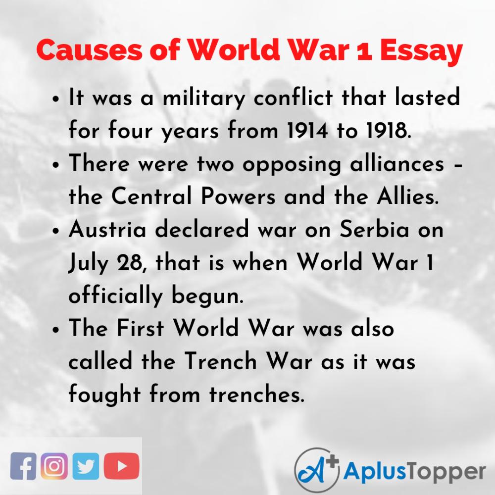 Causesofworldwar1essay Essayoncausesofworldwar1 In 2021 Essay Question Allied Powers Cause Of The First World War