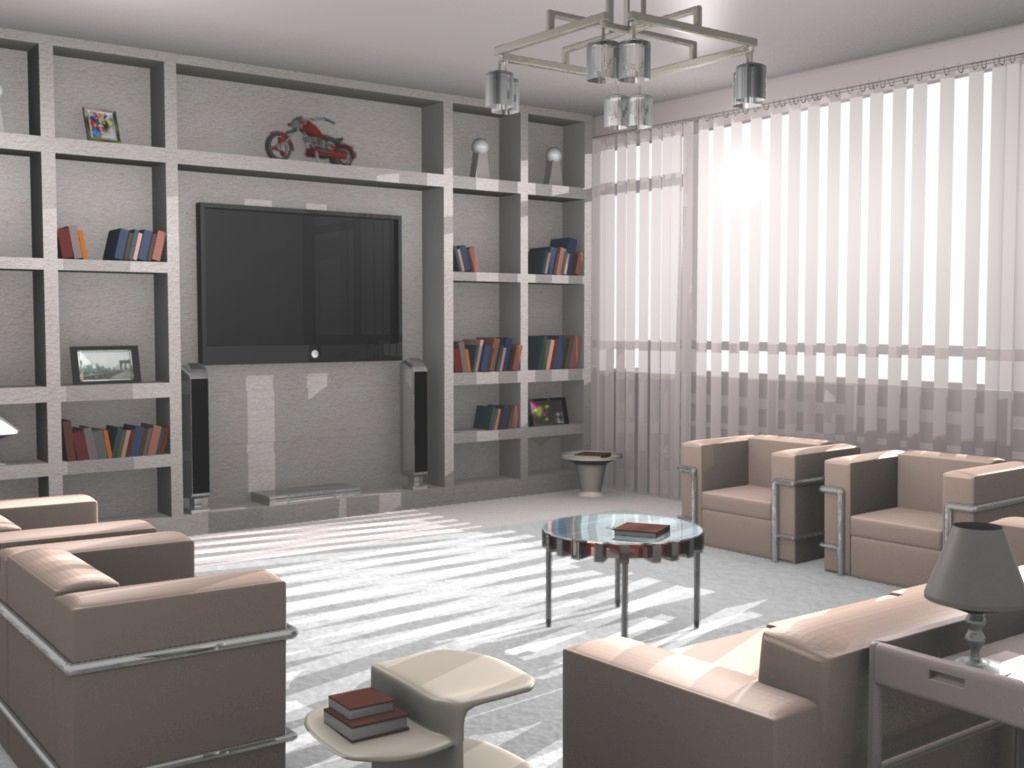 Blender 3d model house