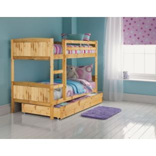 Buy Detachable Bunk Bed Frame With Storage Antique Pine At Argos