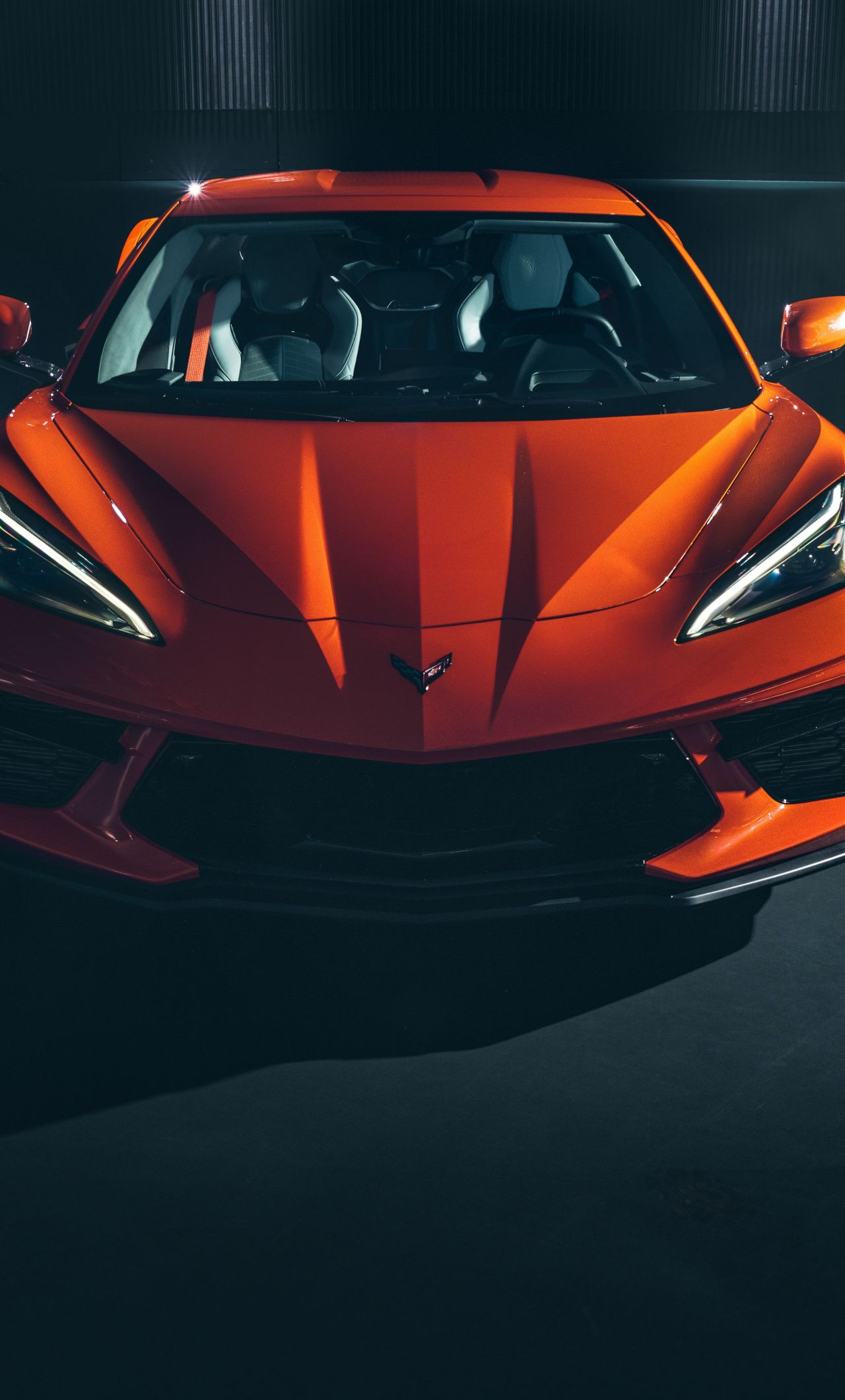 1280×2120 2020 Chevrolet Corvette Stingray C8, sports car wallpaper