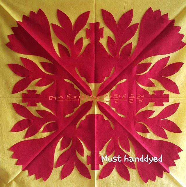 우리 모두 여왕 💎 Size 70cm (28inch ) #하와이안퀼트  #머스트의하와이안퀼트클럽 #hawaiianquilt #handdyedfabric  #handdyed #handmade #hawaii #aloha #applique #quilt #ハワイアンキルト #must手染め#アップリケ  #ハンドメード