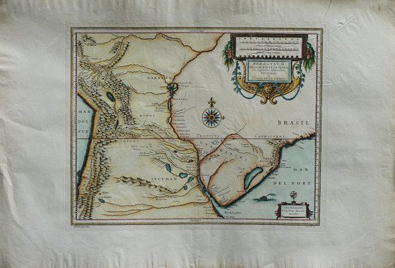 Ancient Maps  Paraguay   Cm. 80 x 56 Inches 315 di OldDecorPrints