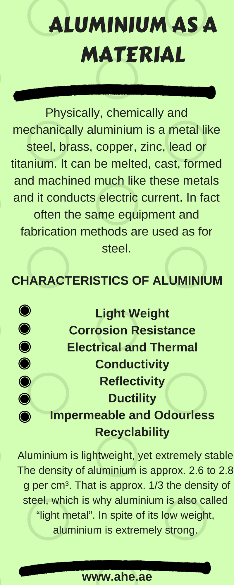 Physically, chemically and mechanically aluminium is a metal