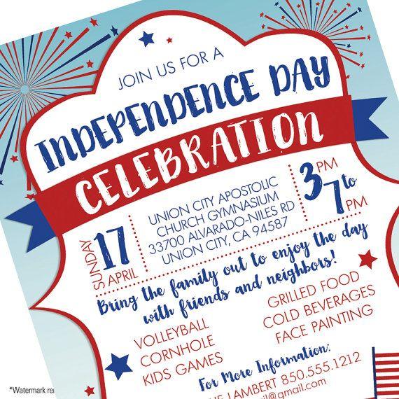 Th Of July Celebration Firewoks Independence Day Invitation