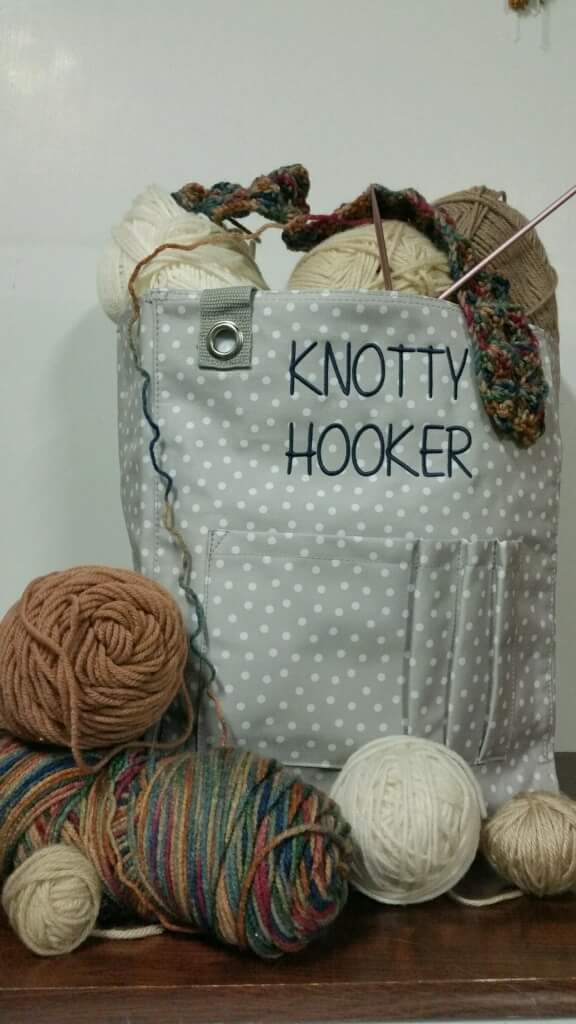 The Tall Utility Tote is perfect for my knitting and crocheting projects!!