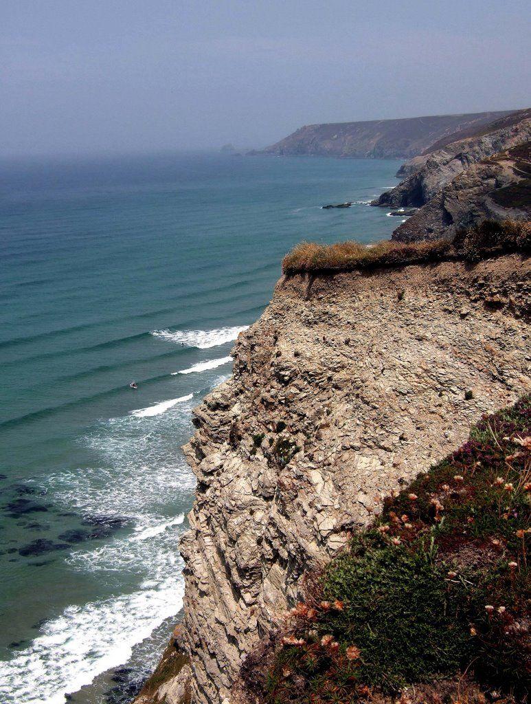 Coastline at Porthtowan, the coastal path goes around the entire coast of Cornwall and is stunning