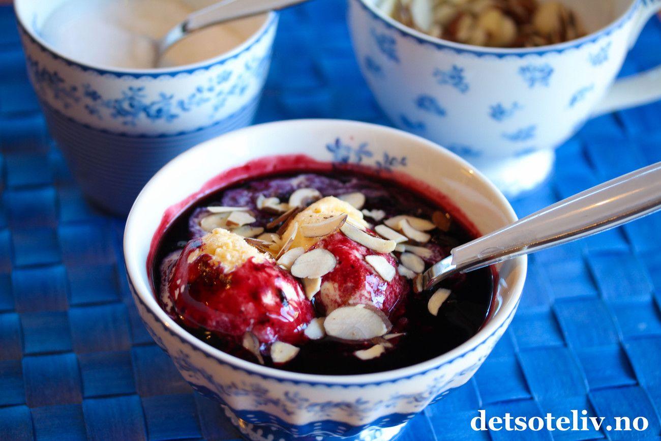 Blåbærsuppe med vanilje   Det søte liv