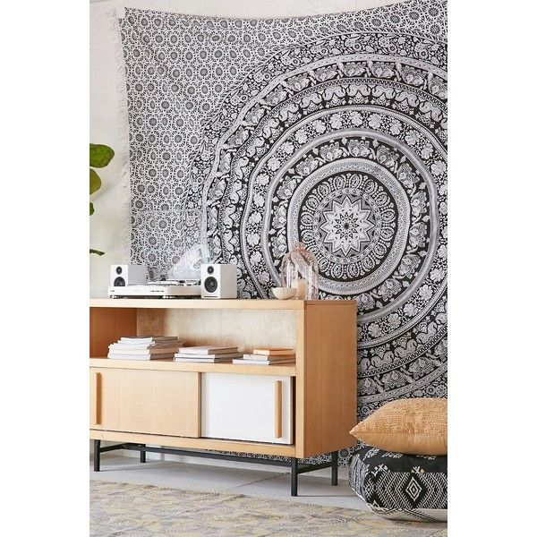 Magical Thinking Floral Elephant Tapestry (£22) ❤ liked on Polyvore