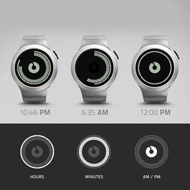 The Concentric Circles LCD Watch - Hammacher Schlemmer