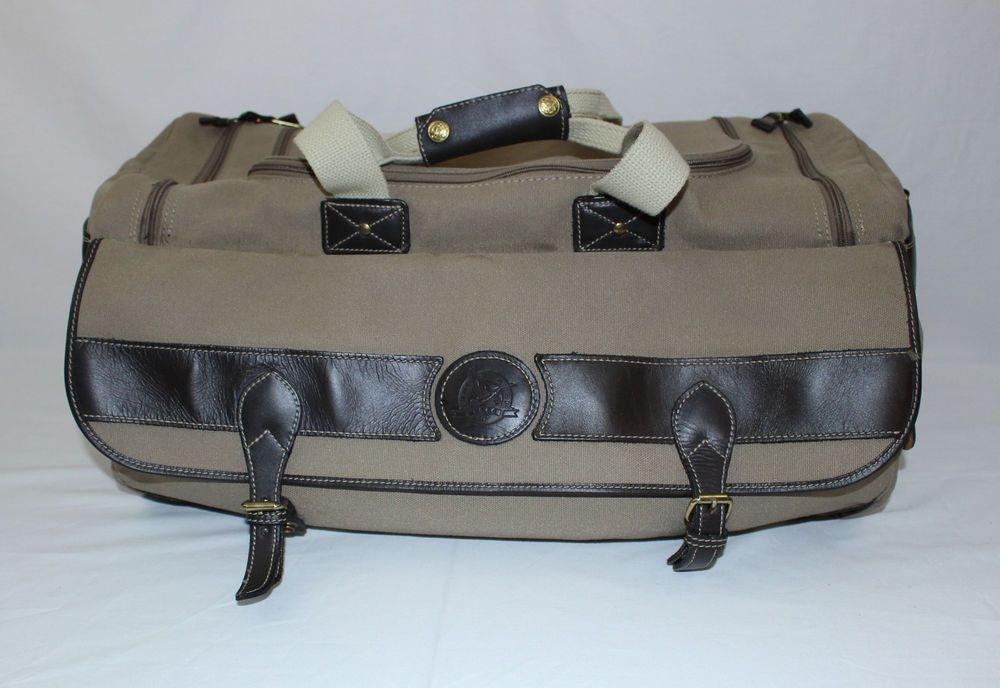Vintage Ed Bauer Ford Edition Canvas Leather 21 Duffle