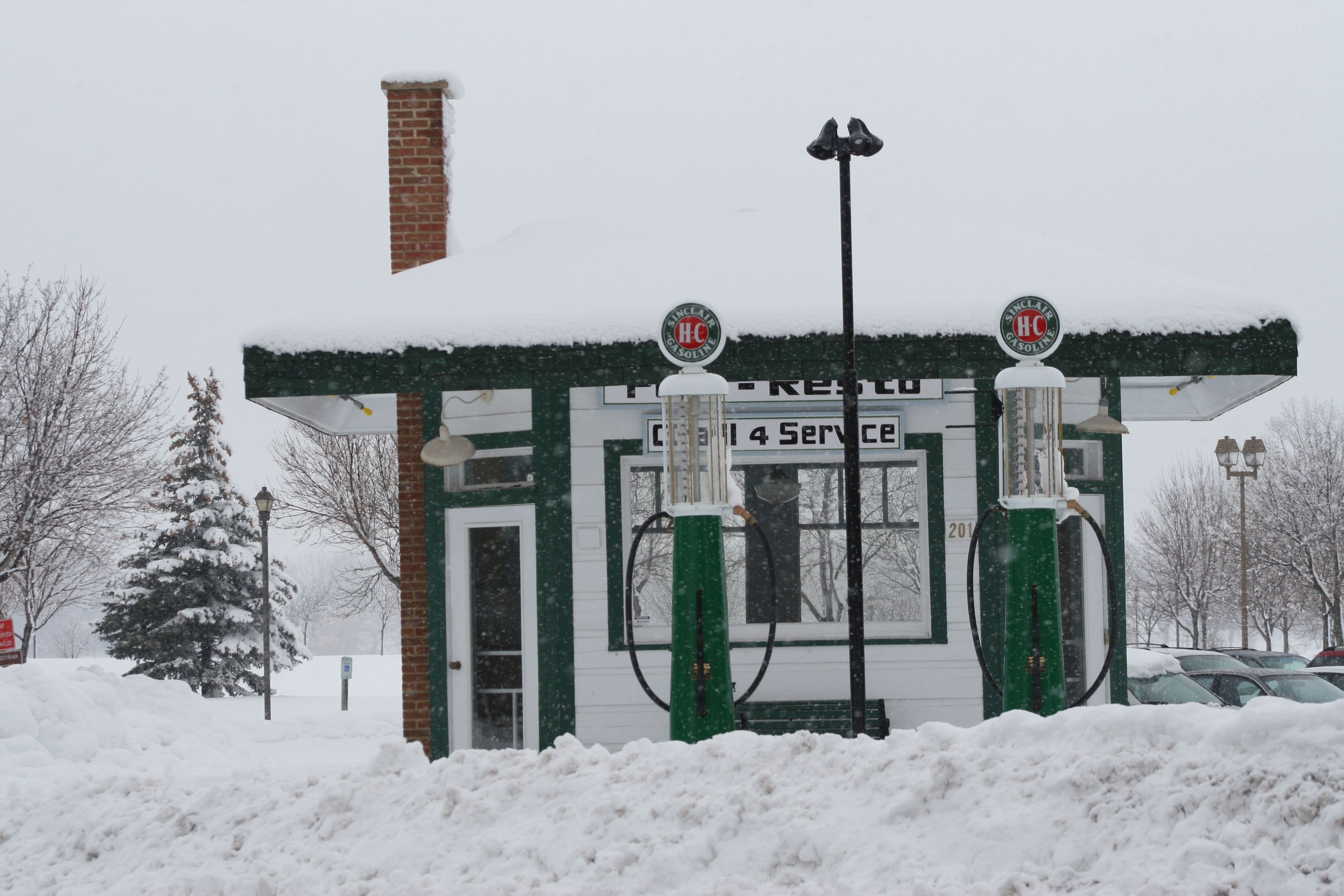 Polo Resto covered in snow in historic Downtown De Pere. Photo by Dennis Jensen