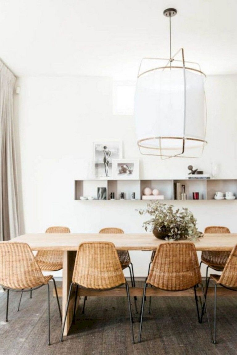 36 Admirable Scandinavian Dining Room Design Ideas Scandinavian Dining Room Dining Room Table Makeover Rattan Dining Chairs