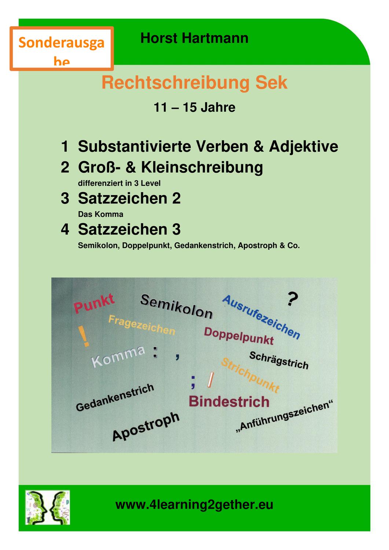 Rechtschreibung Sek Satzzeichen Verben Adjektive Unterrichtsmaterial Im Fach Deutsch In 2020 Rechtschreibung Adjektive Verben