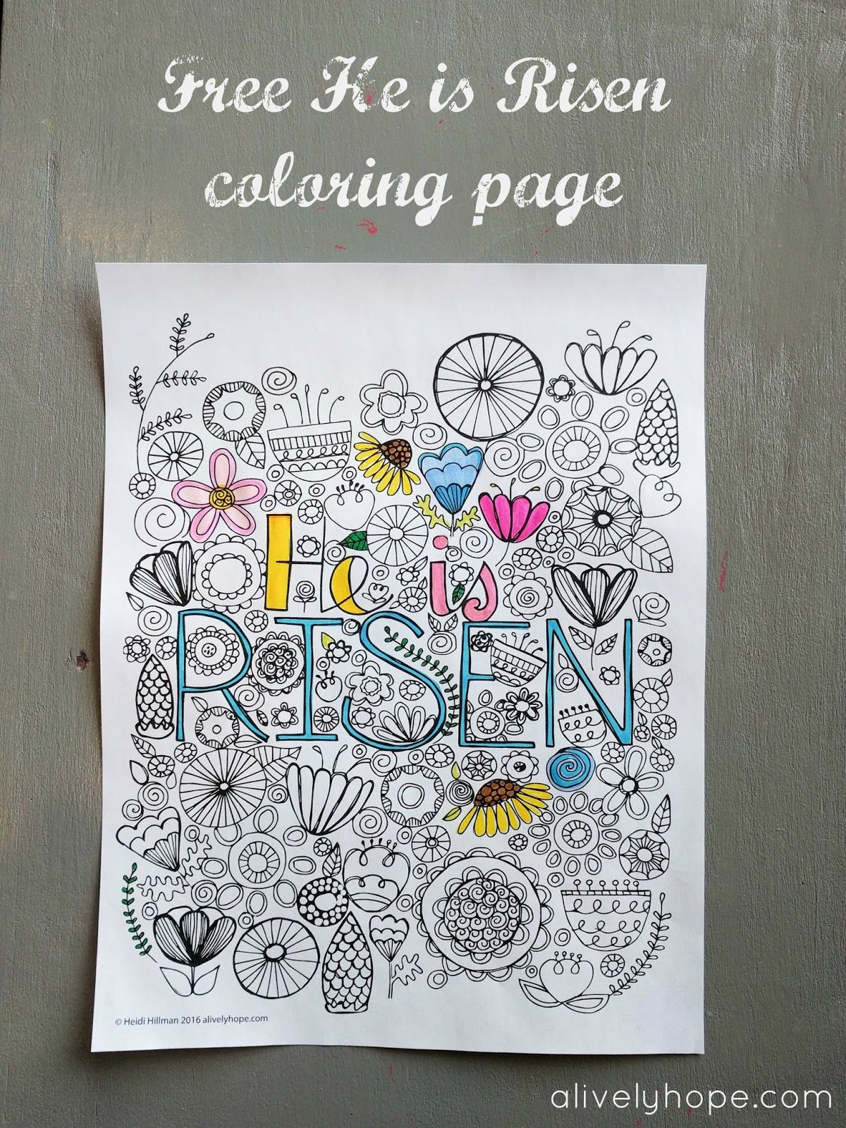 He is Risen Coloring Page (free download!) (With images
