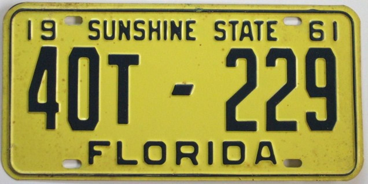 1961 license plates - Google Search | 1961 | Pinterest | Florida ...
