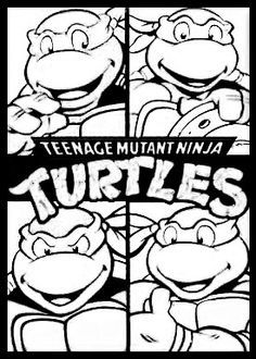 Teenage Mutant Ninja Turtles TMNT Coloring Page Free Printable