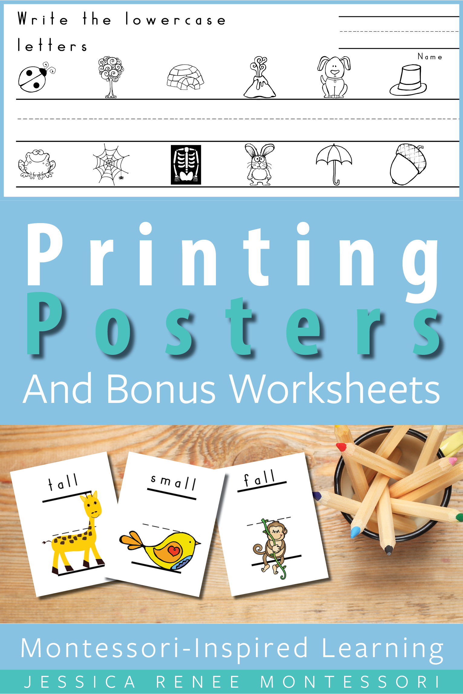 Printing Posters For Correct Lowercase Letter Formation
