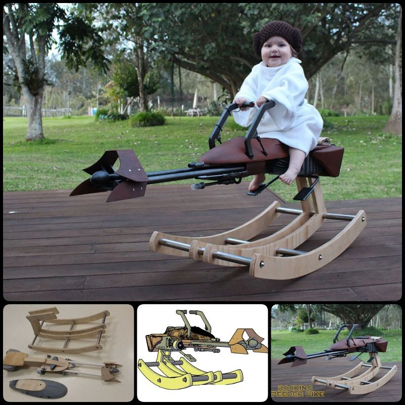 This Dad Builds 'Star Wars' Speeder Bike as Rocking Horse for His Daughter's First Birthday