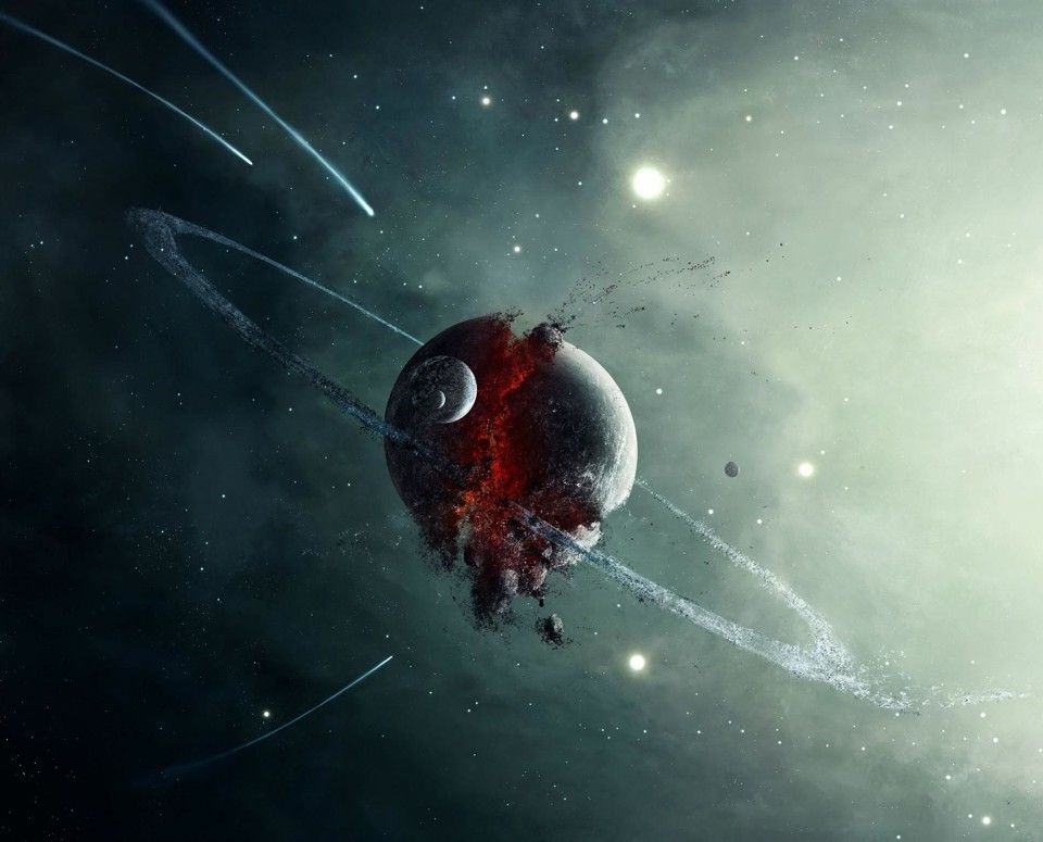 Broken Planet Planets Art Planets Out Of This World Out of this world wallpaper