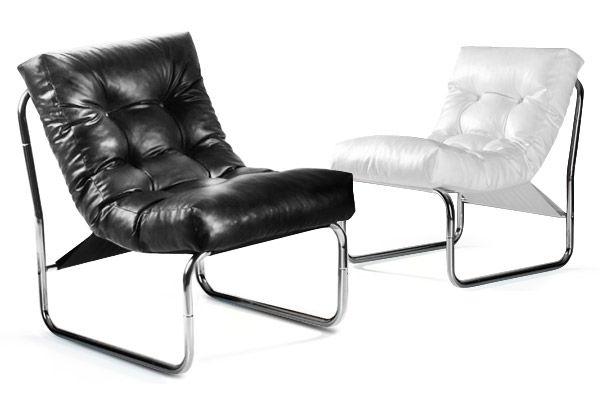 Zeer comfortabele design fauteuil van zacht kunstleer. de design