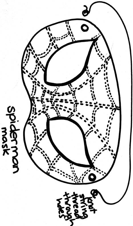 coloring pages spiderman masks - photo#24