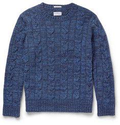 Gant Rugger - Cable-Knit Wool-Blend Sweater       |MR PORTER