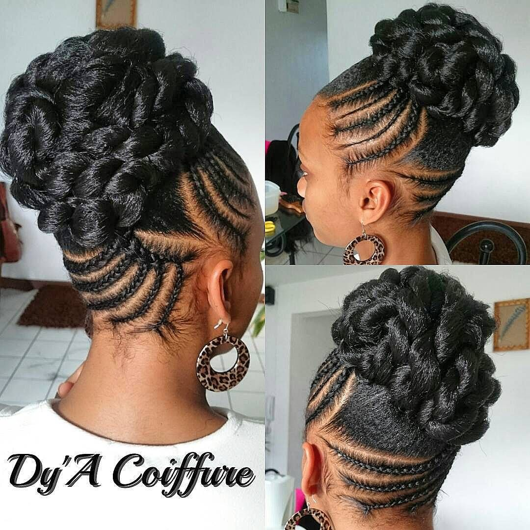 Dy A Coiffure On Instagram Tutorial Available On My Youtube Channel Chignon Bun Natural Hair Styles For Black Women Natural Hair Styles Natural Hair Updo